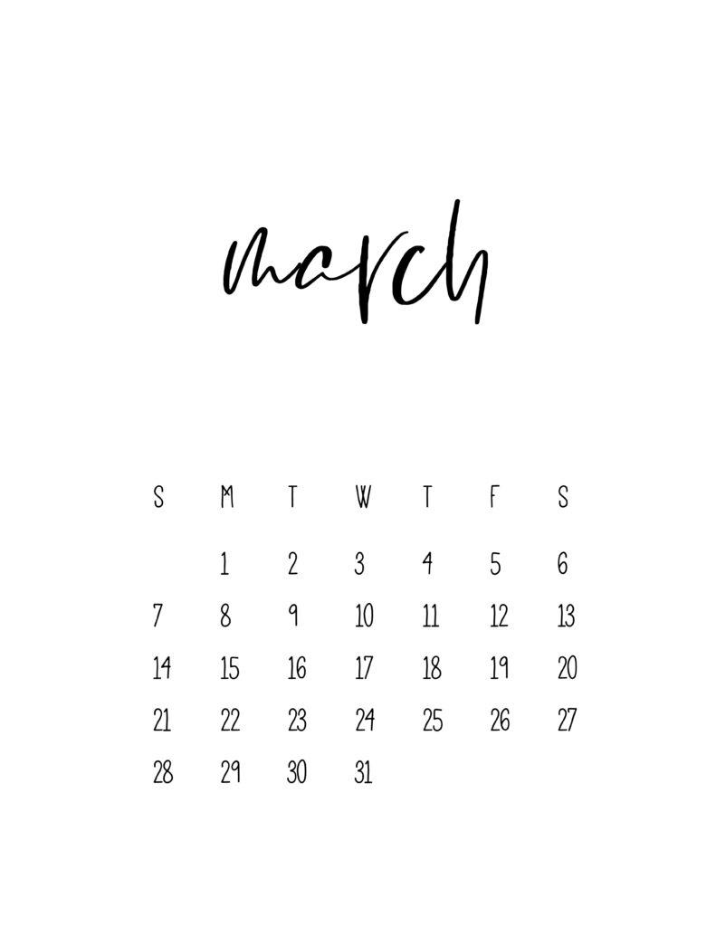2021 Calendar Free Printable Template - World Of Printables