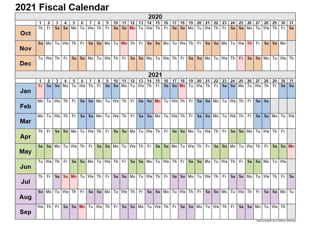 2021 Calendar Quaters | Month Calendar Printable