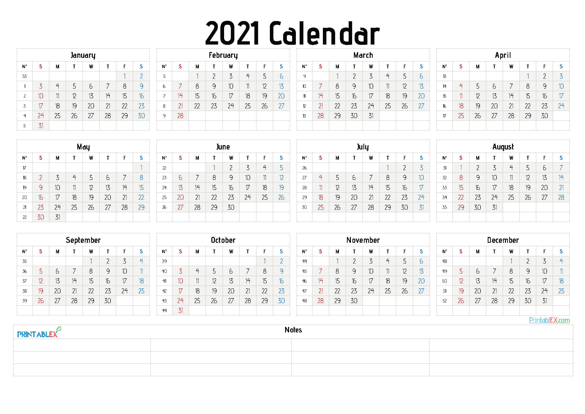 2021 Free Yearly Calendar Template Word 6 Templates Free Printable Calendars
