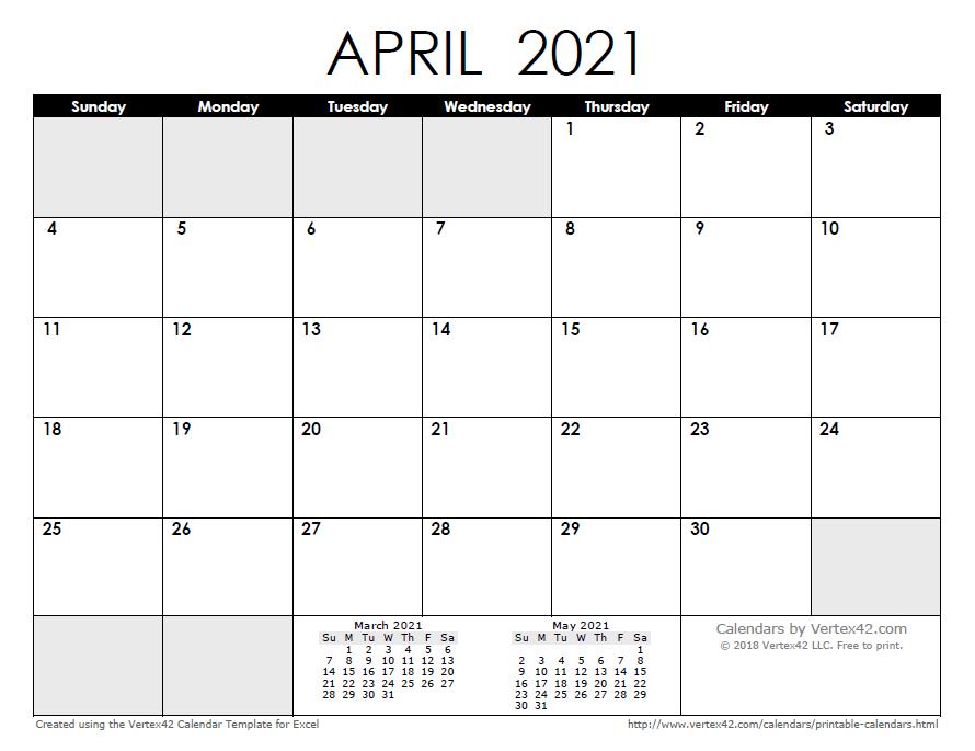 2021 Google Sheets Calendar