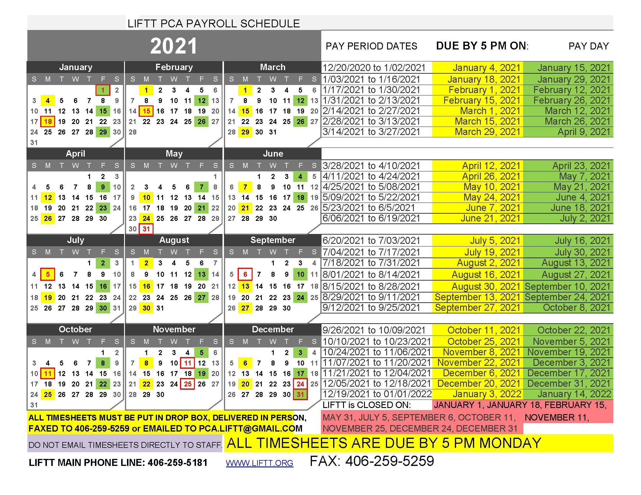 26 Pay Period Calendar 2021 : Doi Payroll Calendar 2021