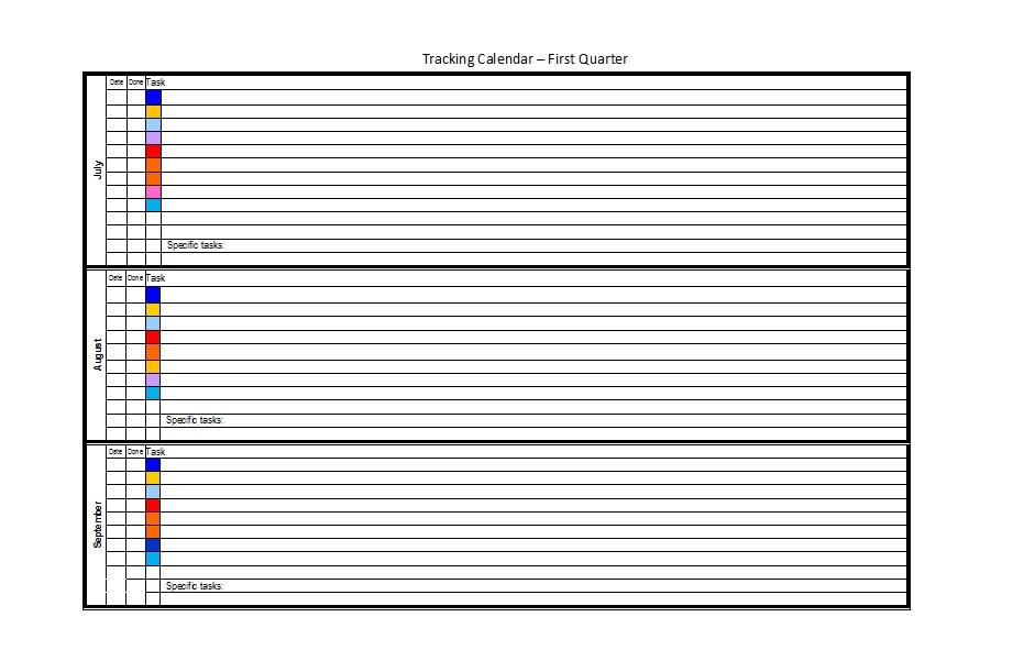 32 Free Bill Pay Checklists & Bill Calendars (Pdf, Word & Excel) In 2020 (With Images) | Bill