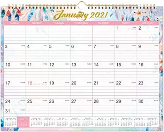 """$4.00 2021 Calendar - Monthly Wall Calendar 2021, 15"""" X 11"""