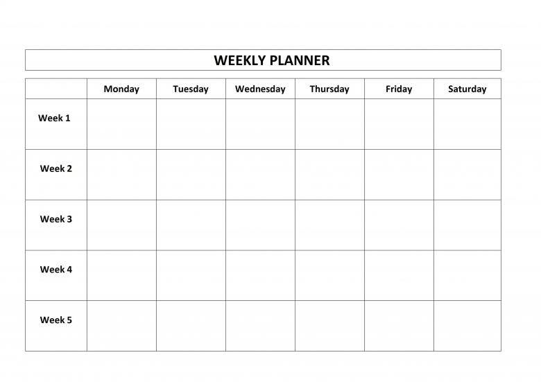 4 Week Blank Calendar Template :-Free Calendar Template