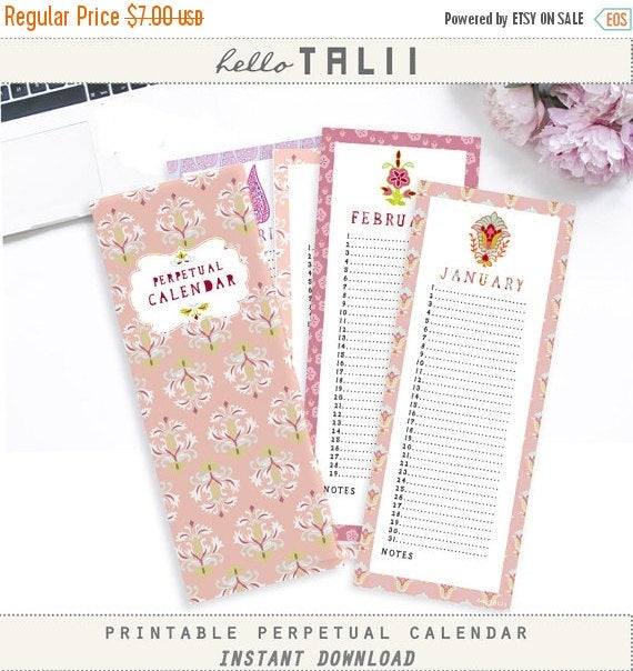 50 Off Perpetual Calendar Printablehellotaliiprintables