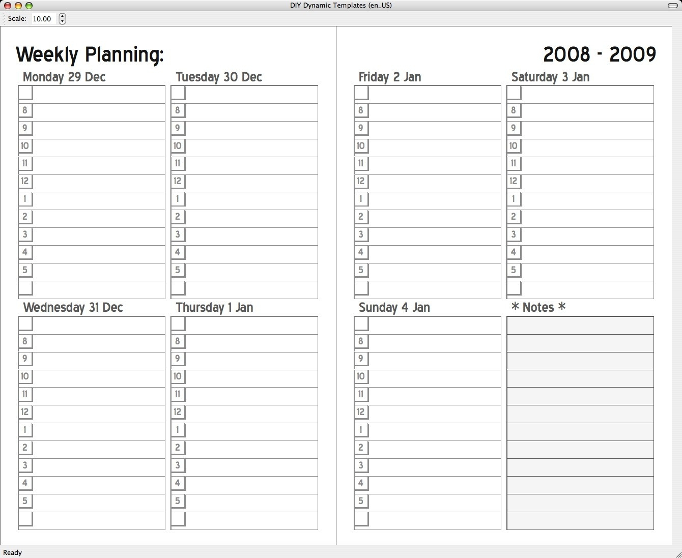 5X8 Calendar Free Template | Calendar Template Printable