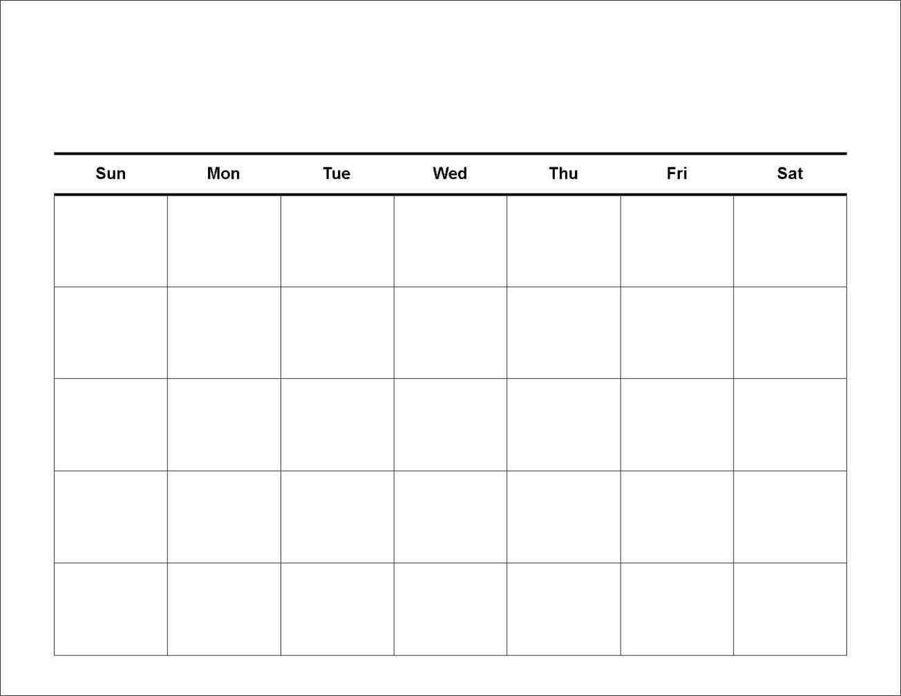 7 Day Schedule Template Blank :-Free Calendar Template