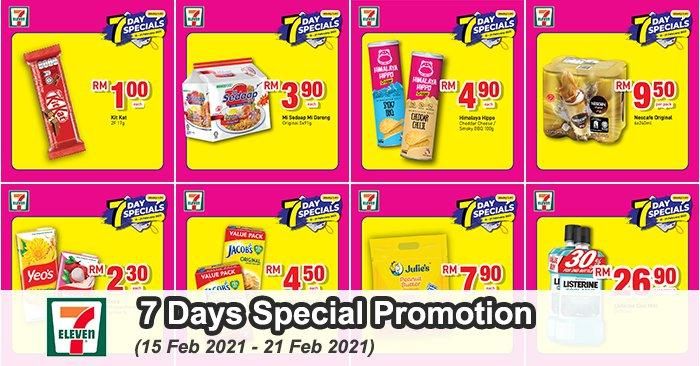 7 Eleven 7 Days Special Promotion (15 February 2021 - 21 February 2021)