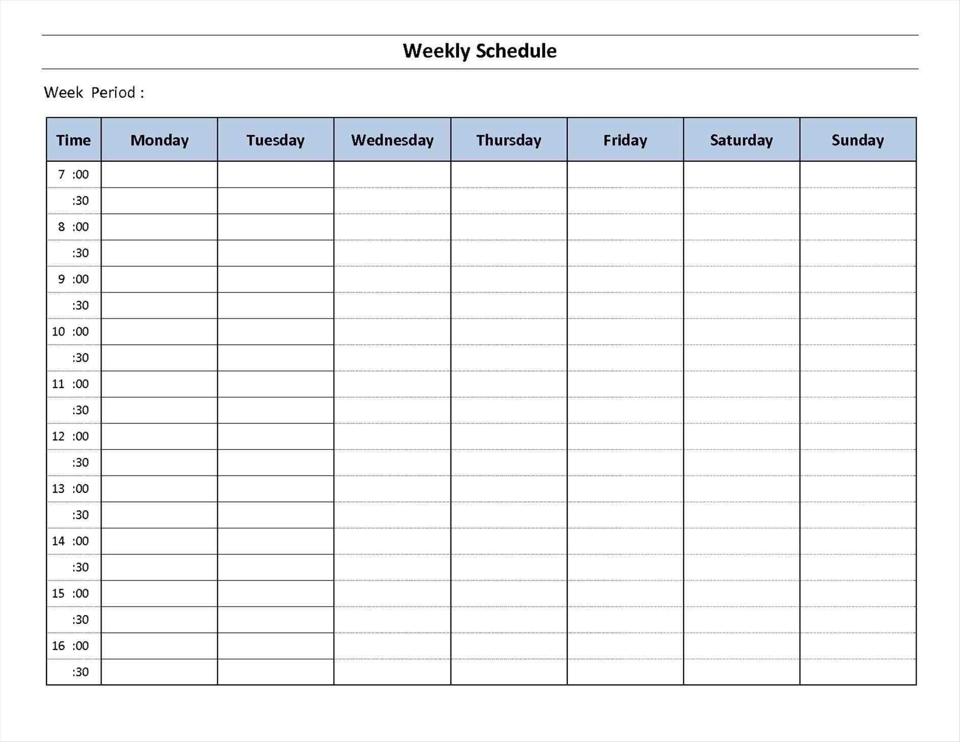 7 Week Calendar Template | Example Calendar Printable