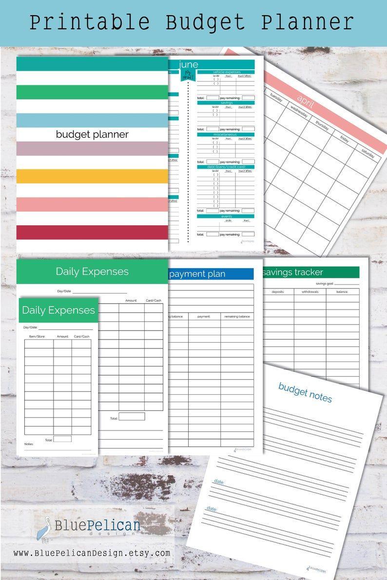 Bi-Weekly Budget Planner Bundle Expense Tracker Bundle