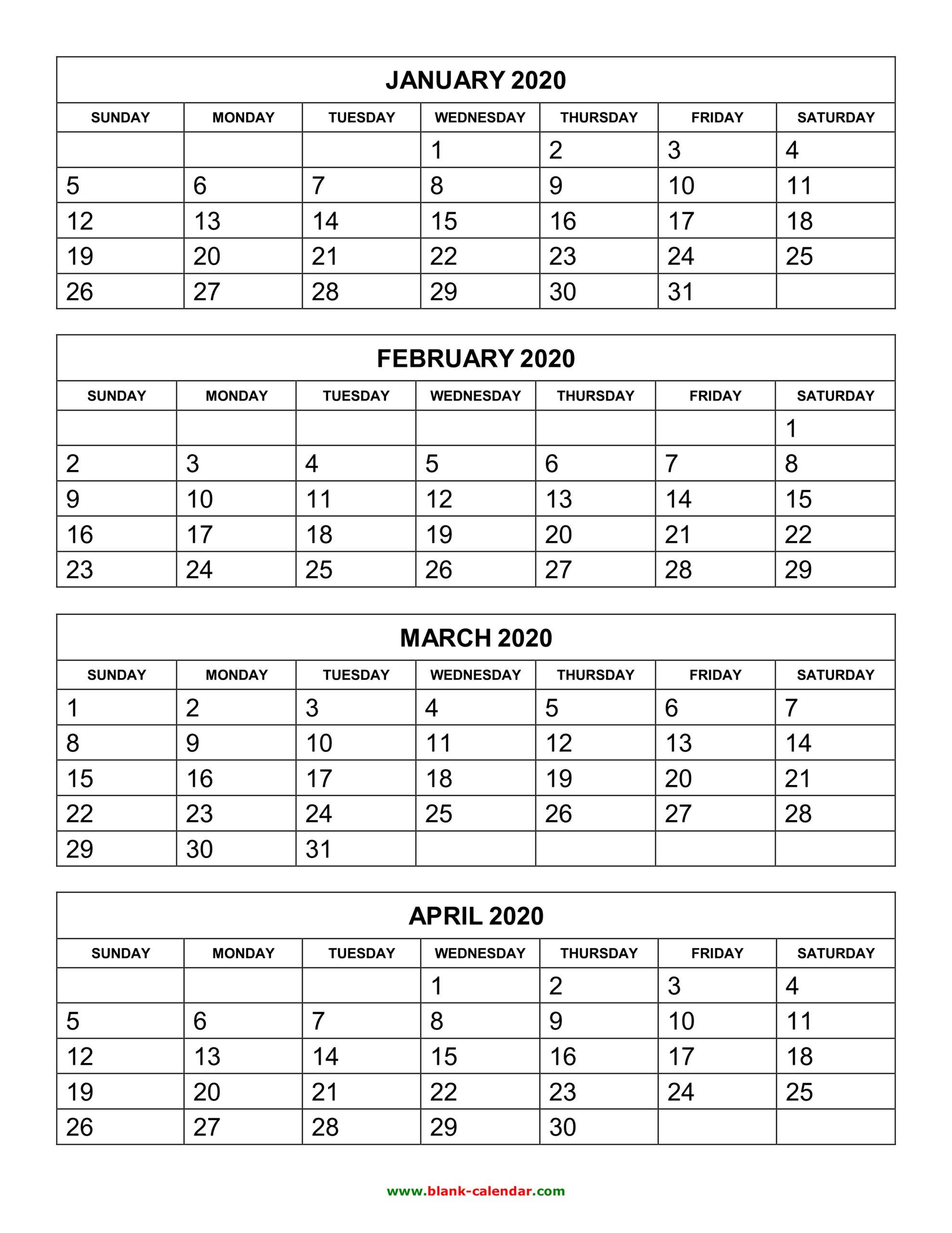 Blank 5 Day Calendar 2020 | Example Calendar Printable