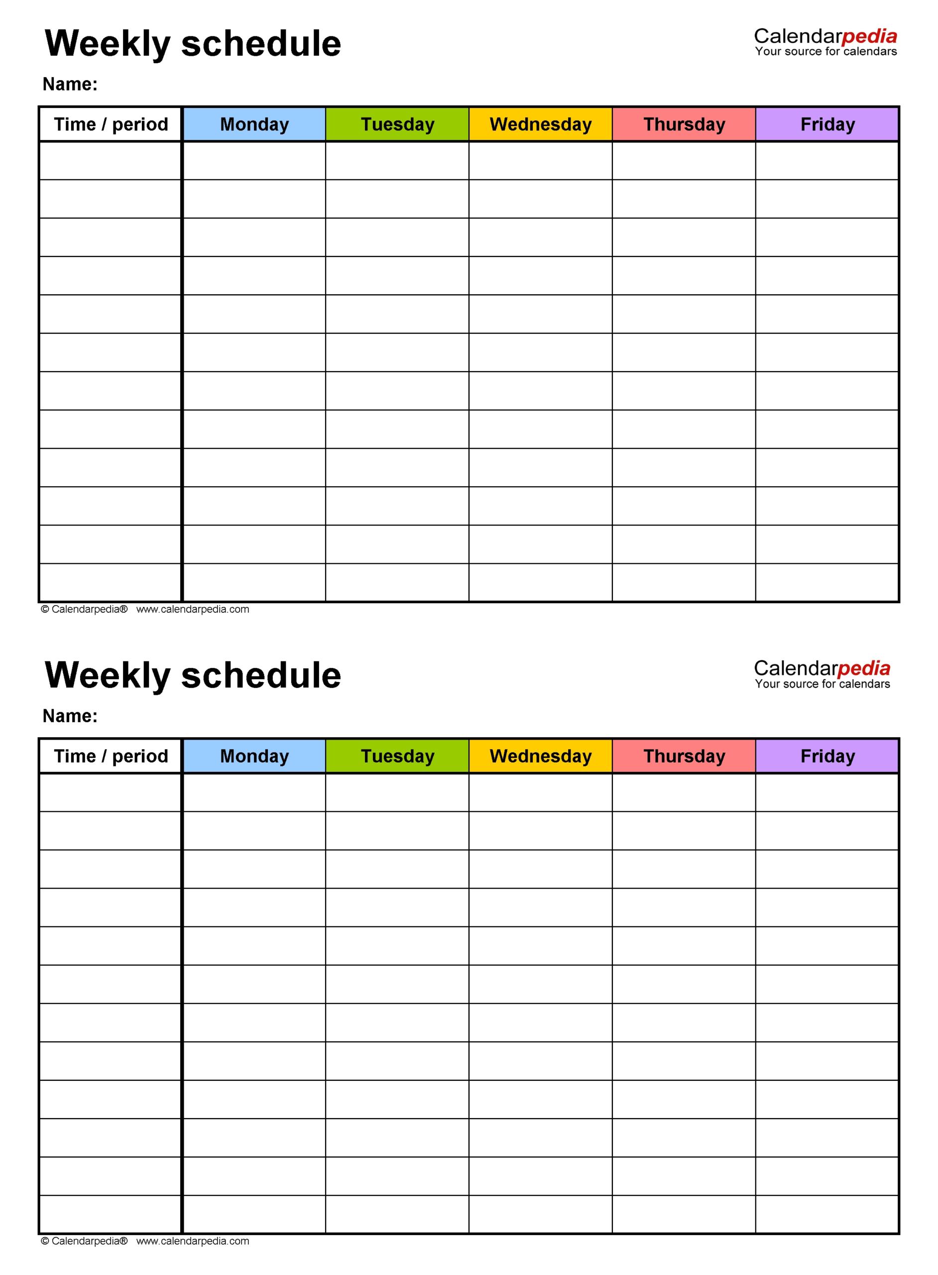 Blank Academic Weekweek Calendar | Calendar Template
