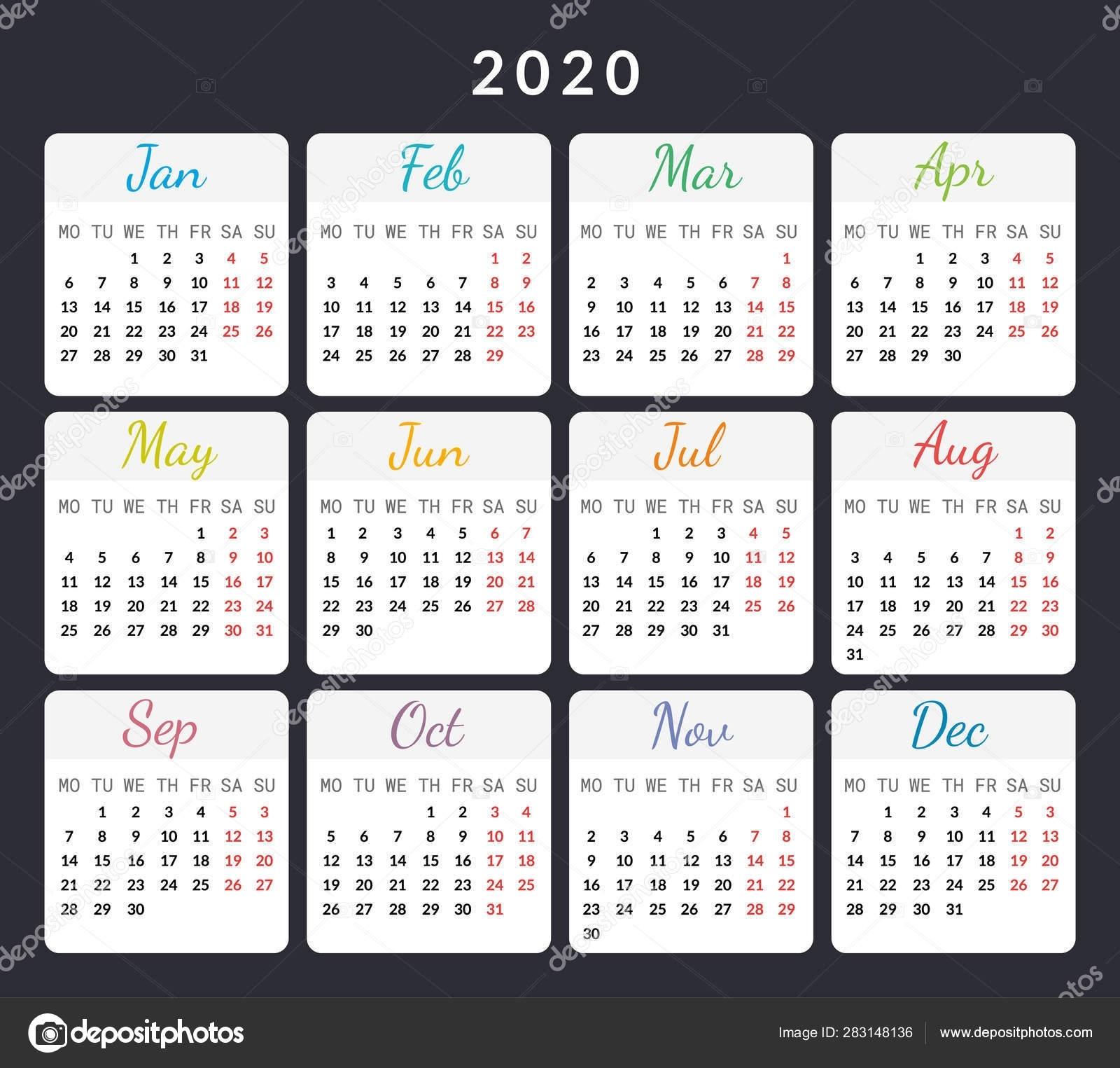 Calendar 2020 Special Days | Month Calendar Printable