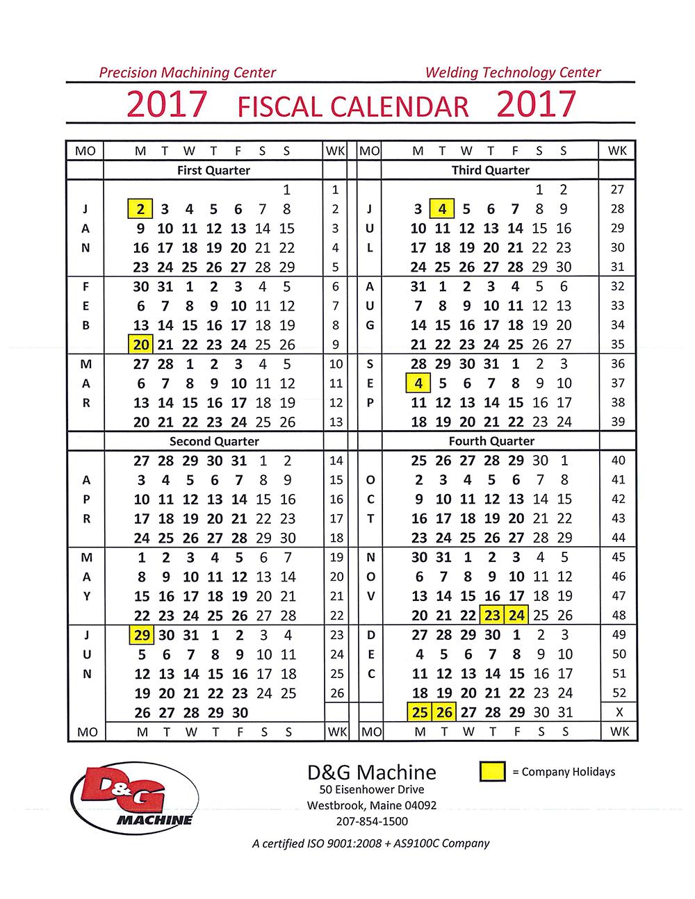 Calendar Fiscal Week - Driverlayer Search Engine