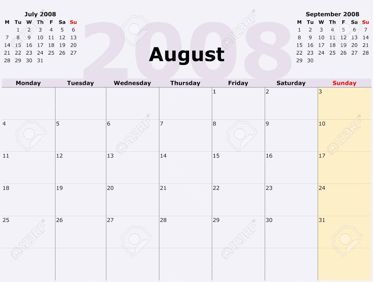 Calendar Monday To Sunday Monthly | Example Calendar Printable