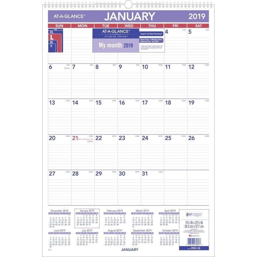 Calendar Month At A Glance • Printable Blank Calendar Template