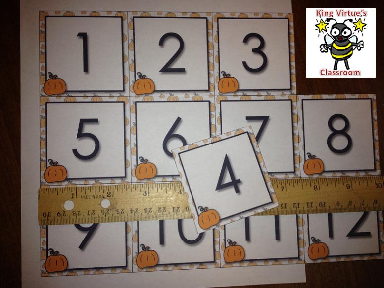 Calendar Number Cards Numbers 1-31 Pumpkin Fall Festival