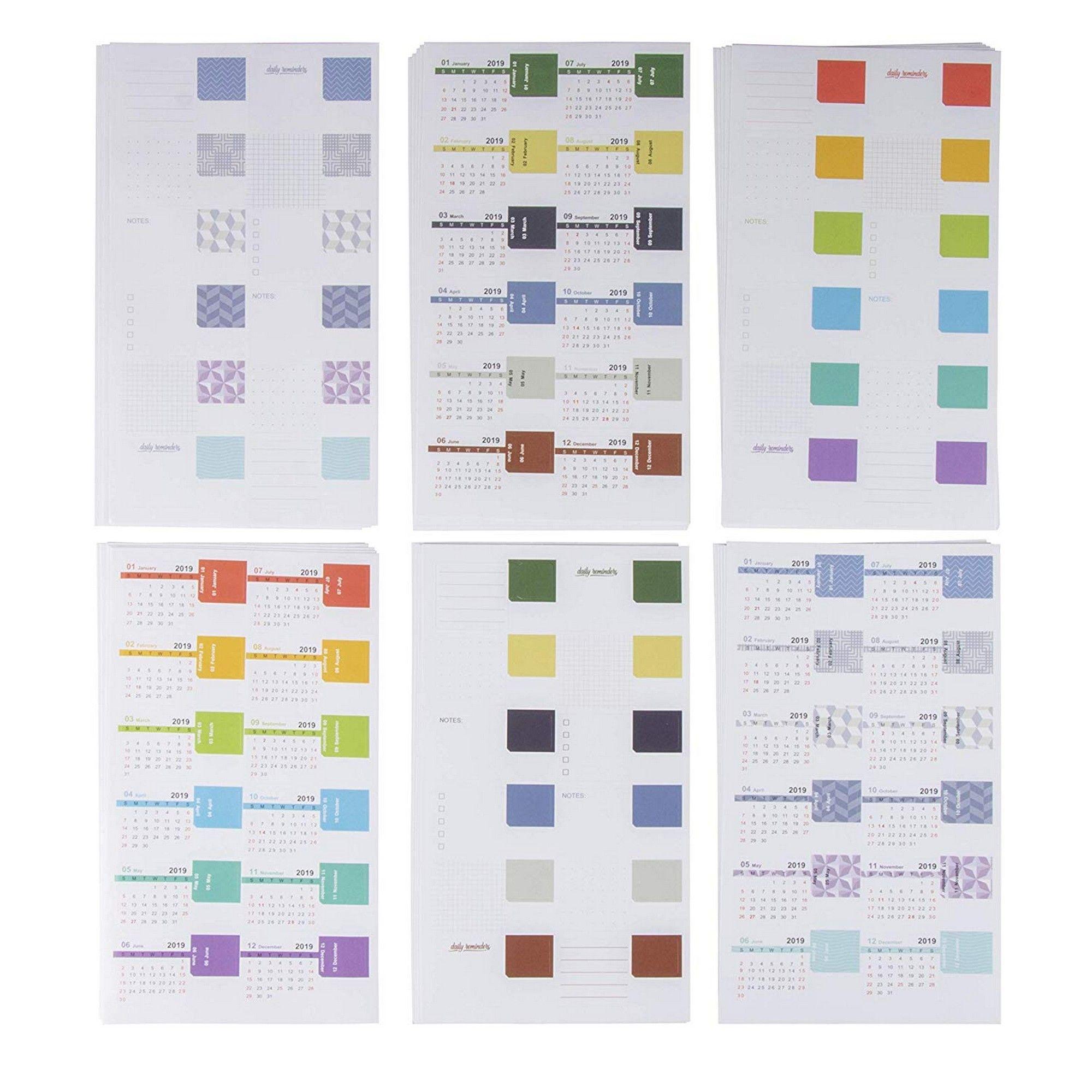 Calendar Sticker - 30-Pack 2019 Monthly Tab, Calendar Tab