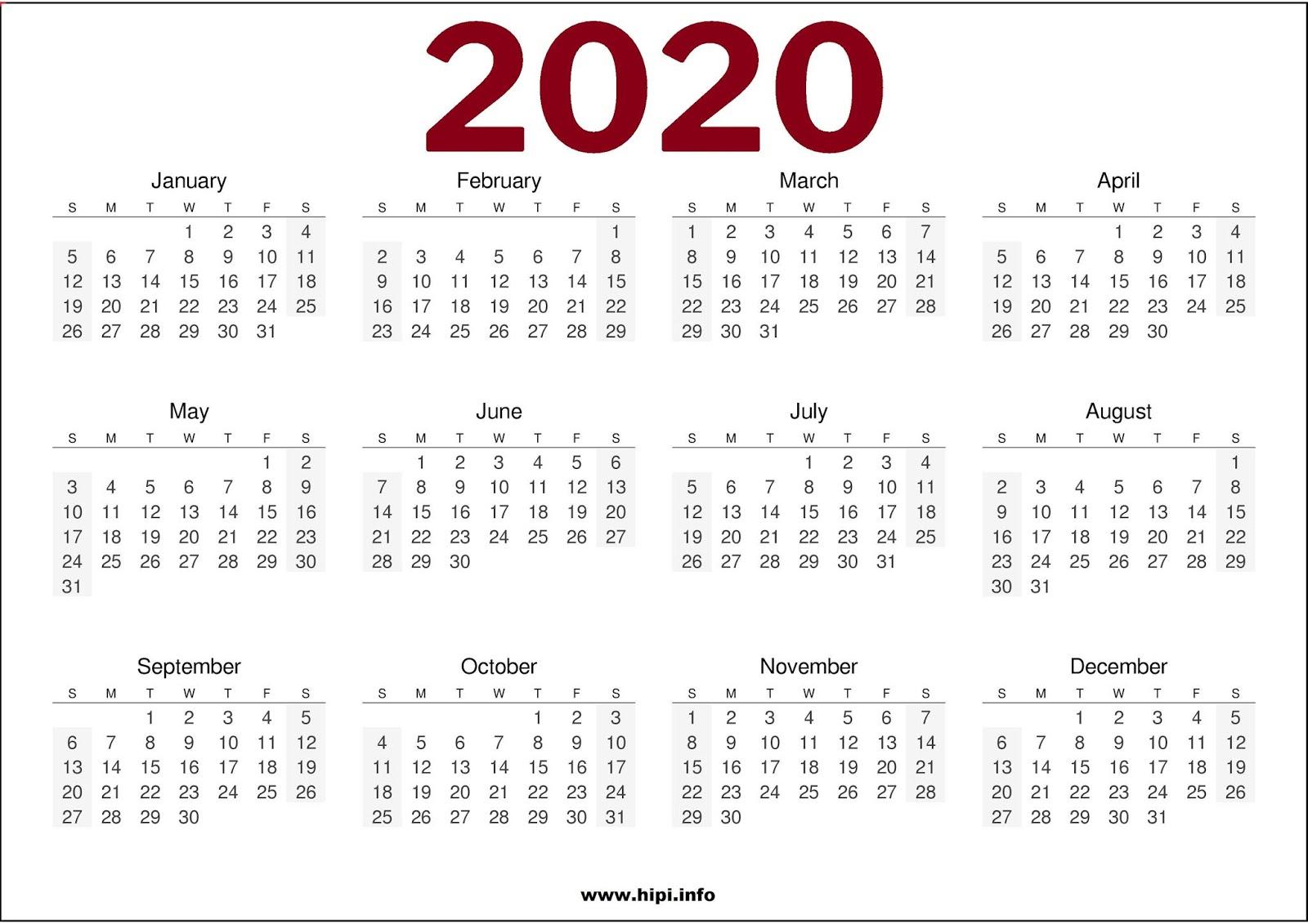 Calendar Templates 2020 Week Numbers | Example Calendar