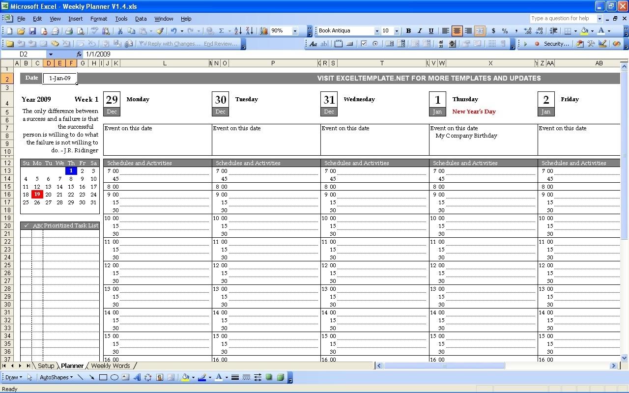 Calendar Week In Excel | Ten Free Printable Calendar 2020-2021