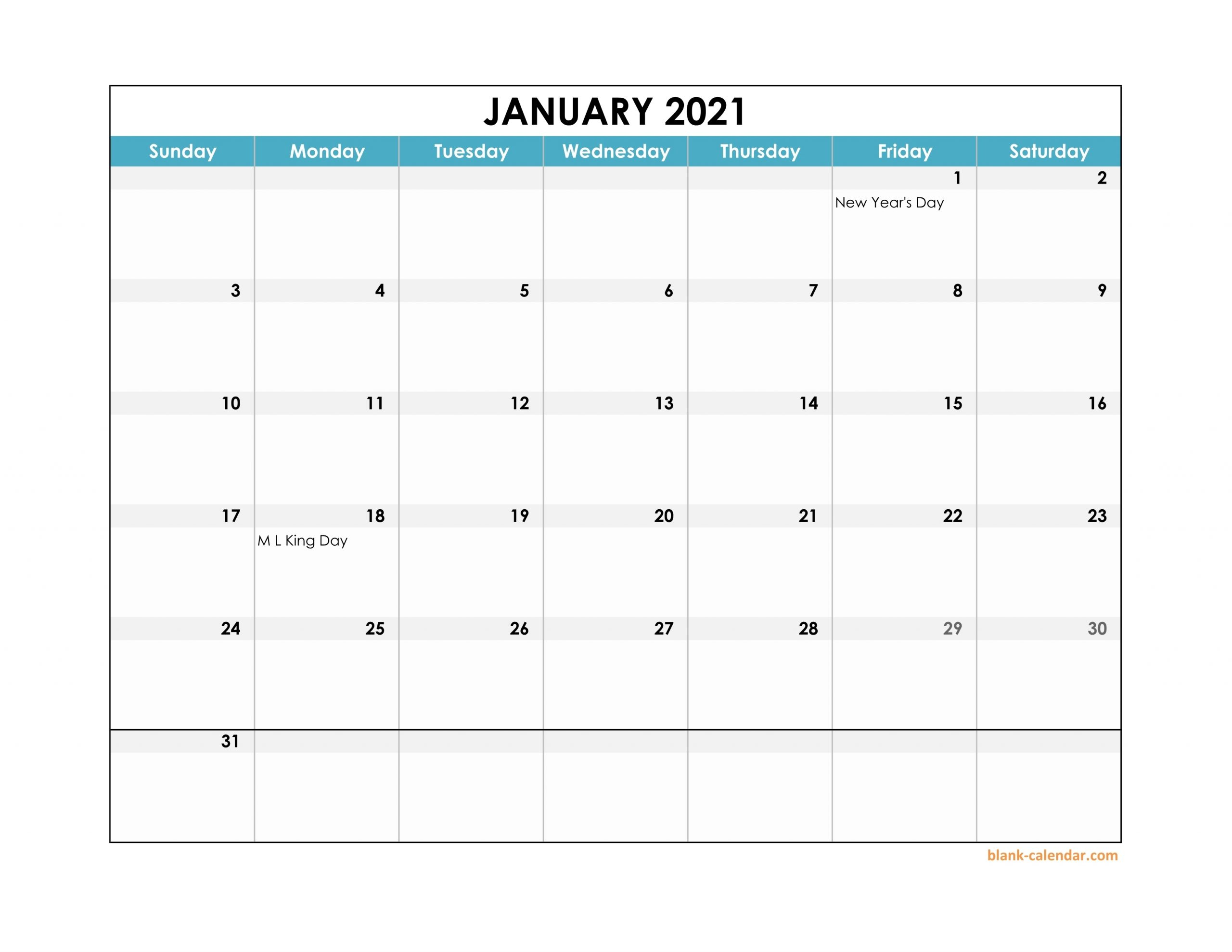 Calendars In Excel For 2021 | Month Calendar Printable