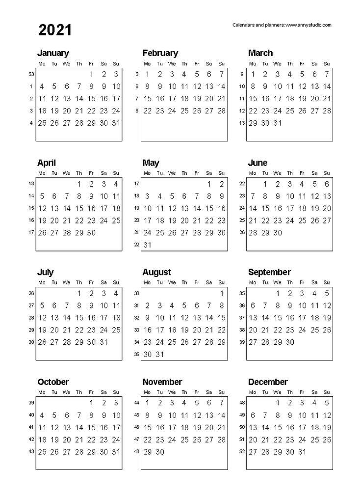 Calender For 2020 Week Wise | Calendar Printables