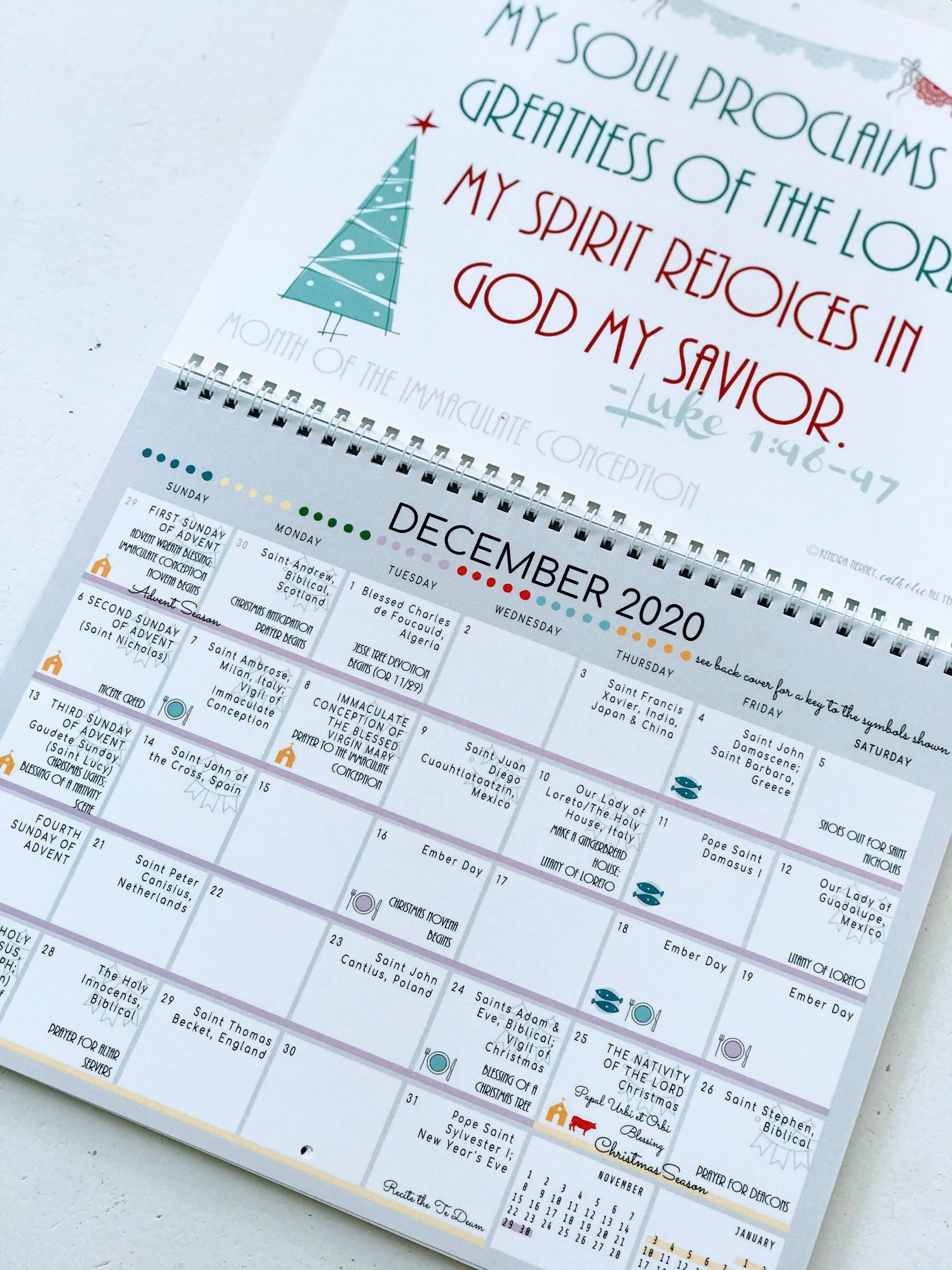 Catholic All Year 2021 Liturgical Calendar With Monthly