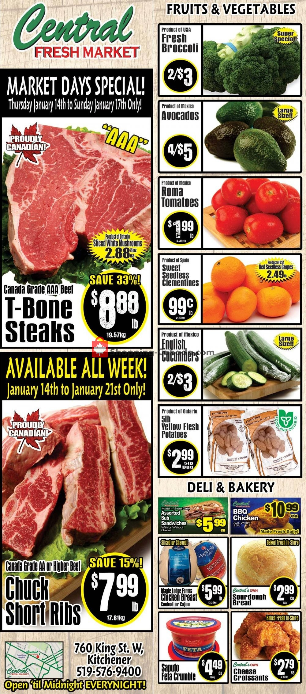 Central Fresh Market Canada, Flyer - (Market Days Special): January 14 - January 21, 2021