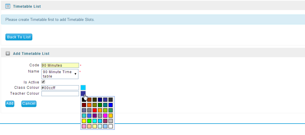 Creating Timetable Templates - Faq/Tutorialsfaq/Tutorials