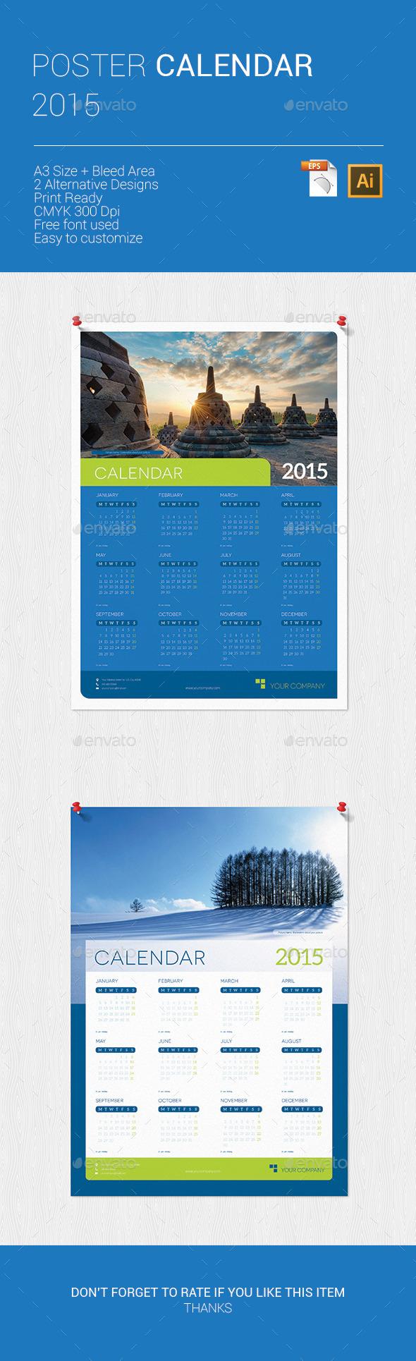 Credit Card Size Calendar Free Template 2015 » Tinkytyler