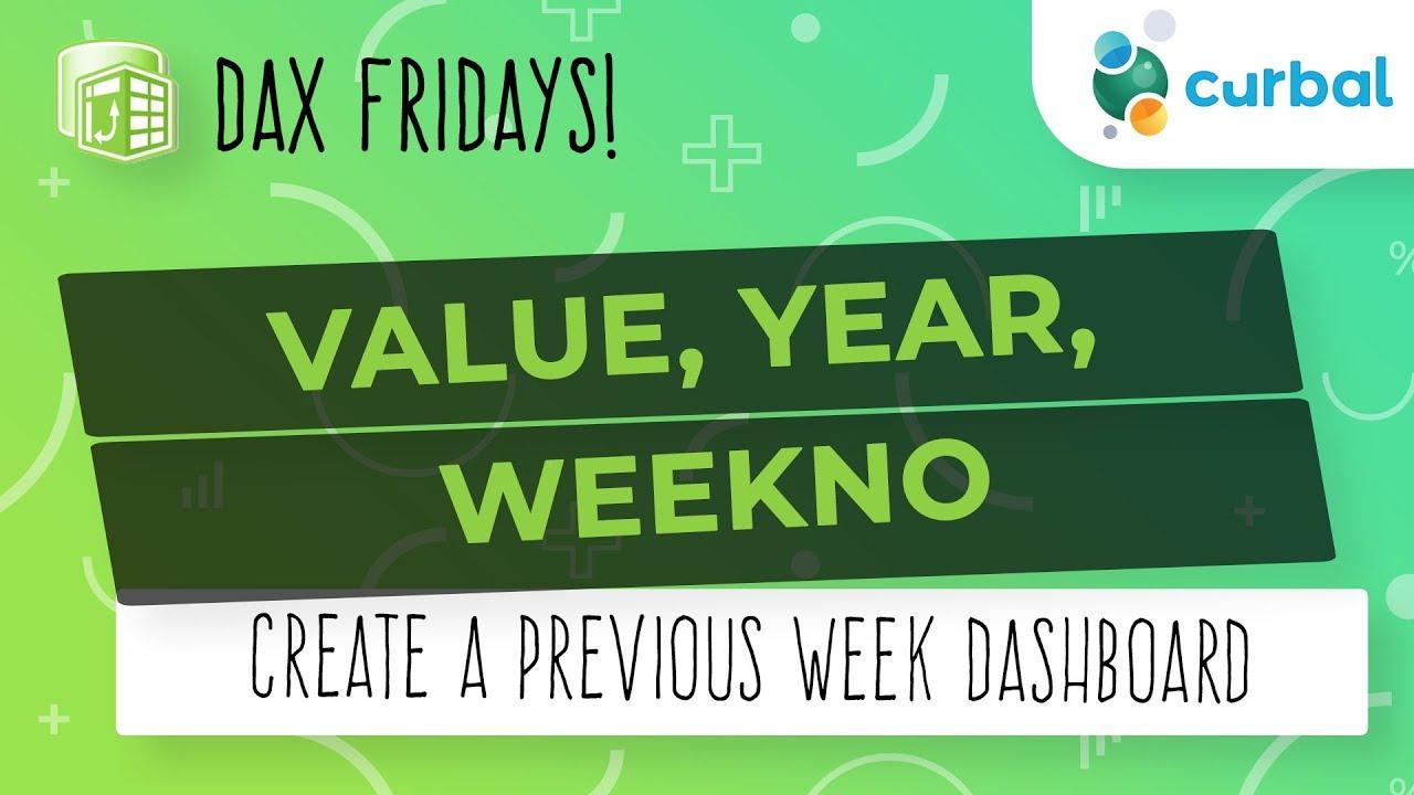 Dax Fridays! #115: Value, Weekno, Year - Previous Week