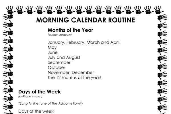 Easy Morning Calendar Routine - Busy Toddler