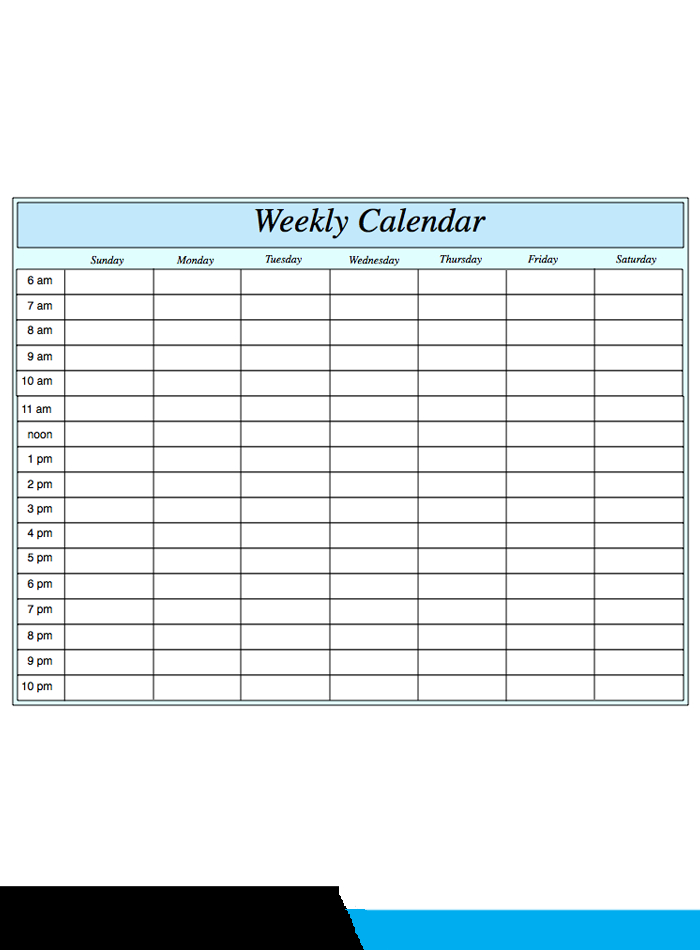️Free Printable Weekly Calendar 2019- 2020 Template [Pdf