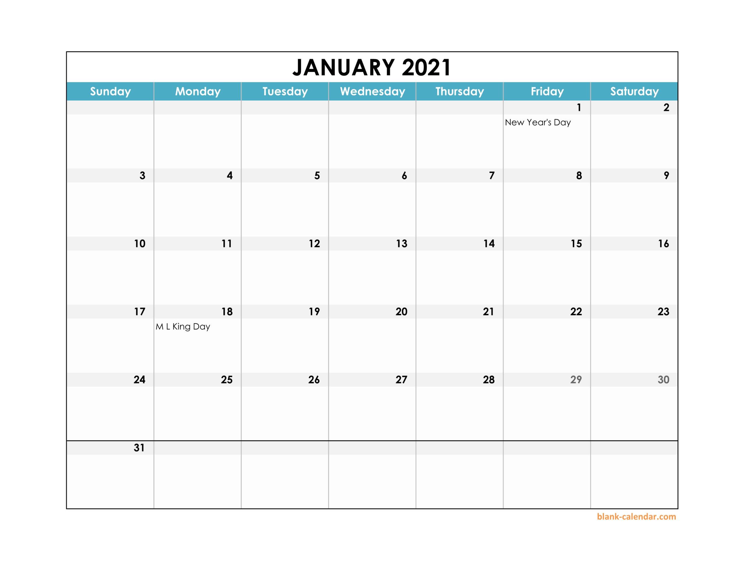 Excel Calendar Template 2021 Editable - Excel Calendar