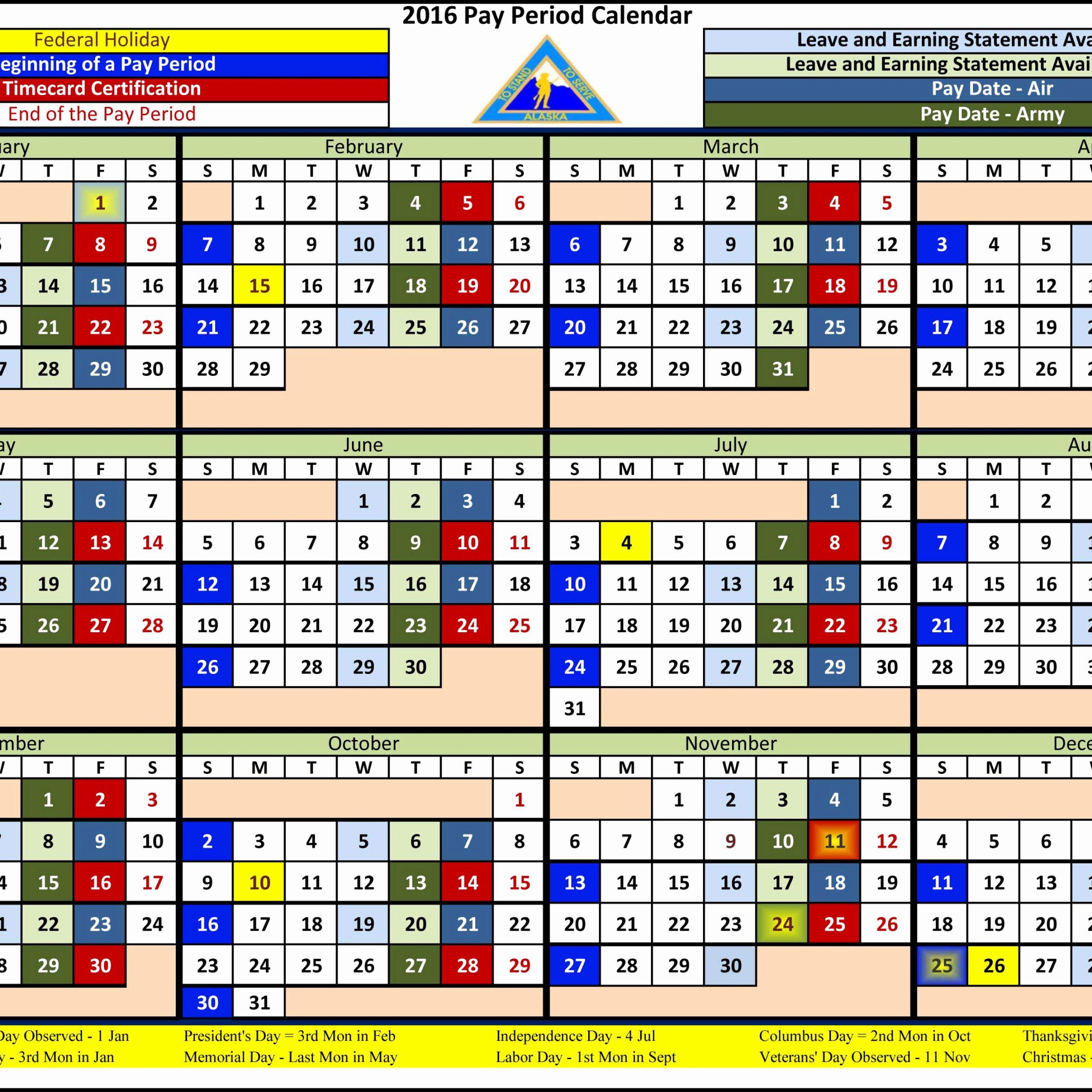 Federal Employee Pay Period Calendar 2020 | Free Printable