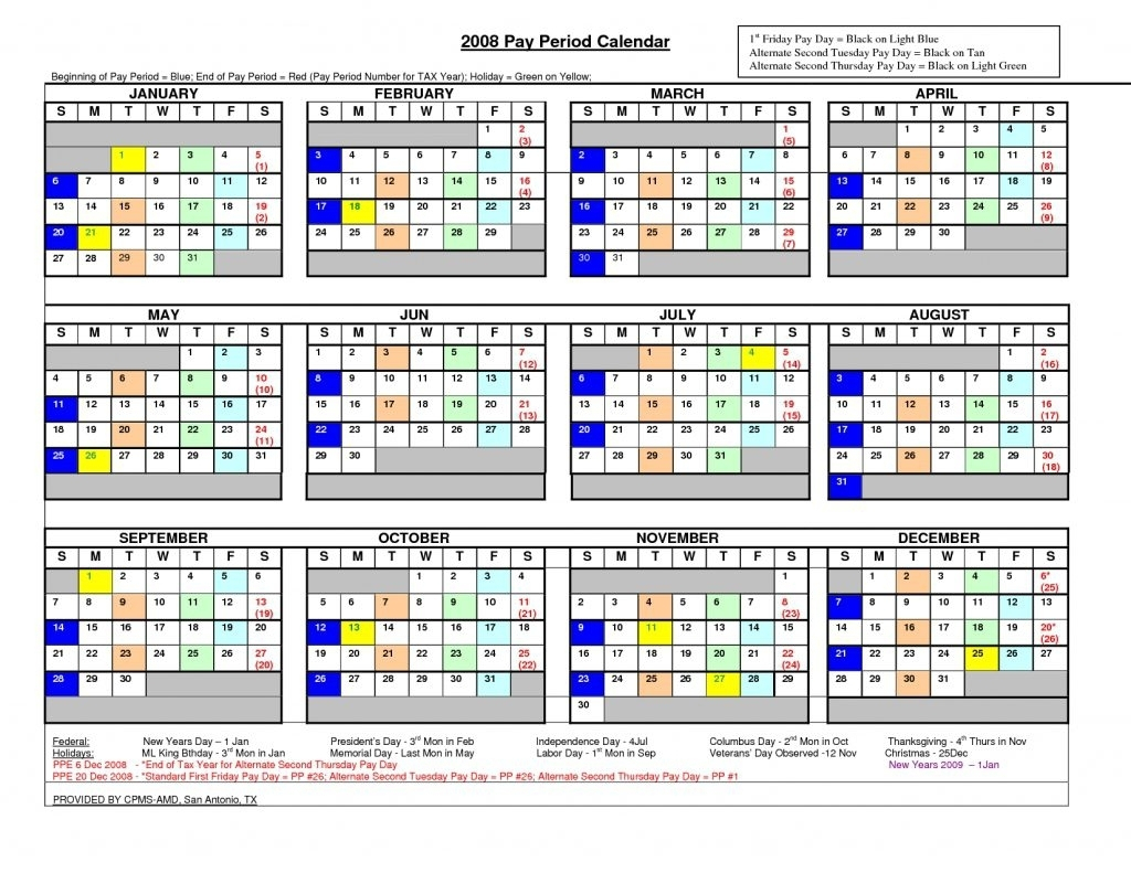 Federal Pay Period Calendar For 2020 - Calendar