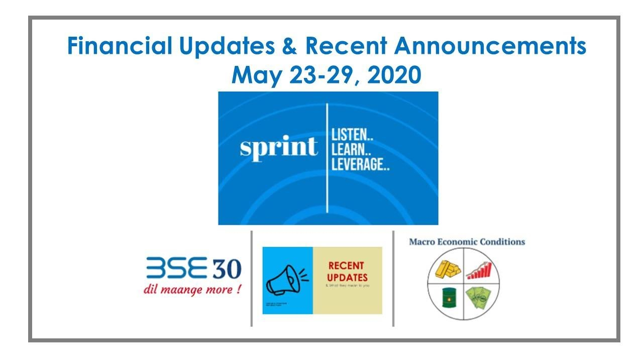 Financial Updates & Recent Announcements | Sprint Weekly