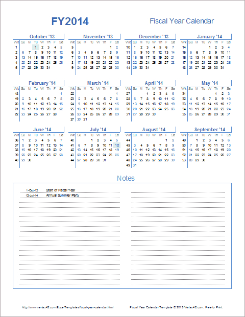 Fiscal Year Calendar Template For 2021 And Beyond