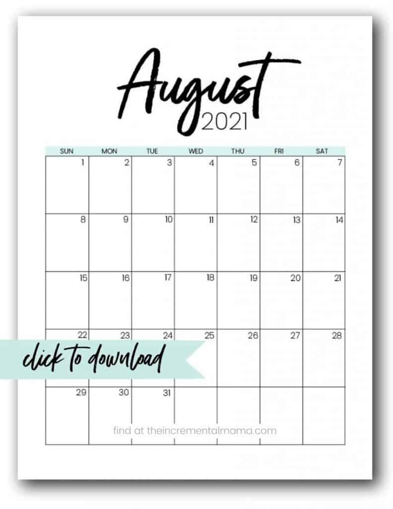 Free 2021 Monthly Calendar Printable Pdfs - The