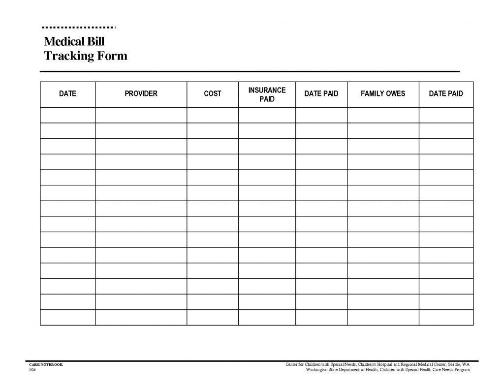 Free Bill Organizer Template Downloads - Calendar