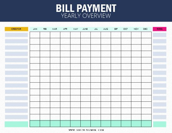 Free Bill Tracker Printables: Be On Top Of Your Monthly