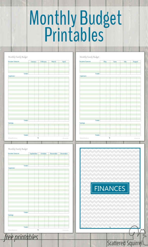 Free Budget Printables - Get Help With Your Budget Today
