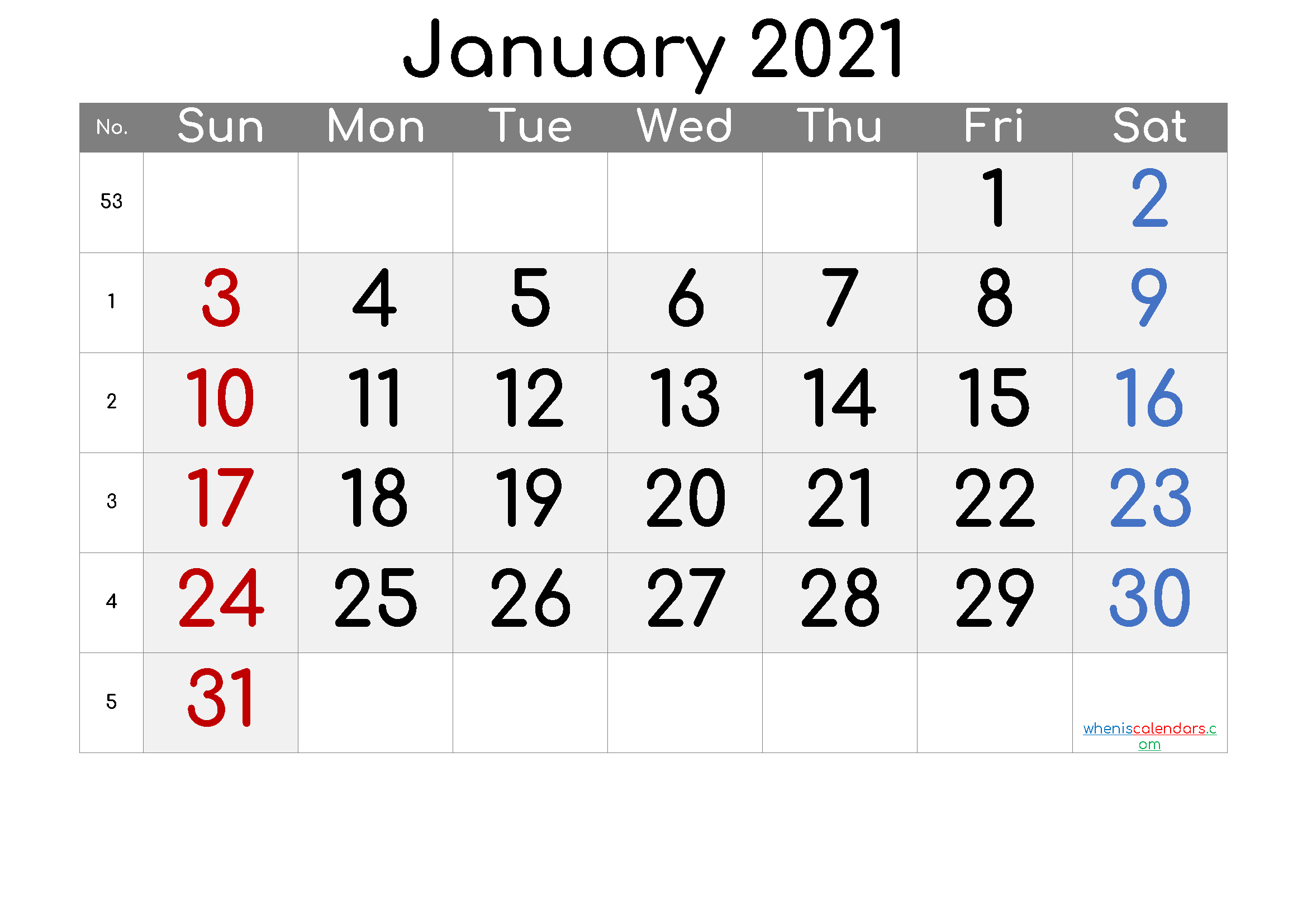 Free January 2021 Calendar [Free Premium] | Calendar