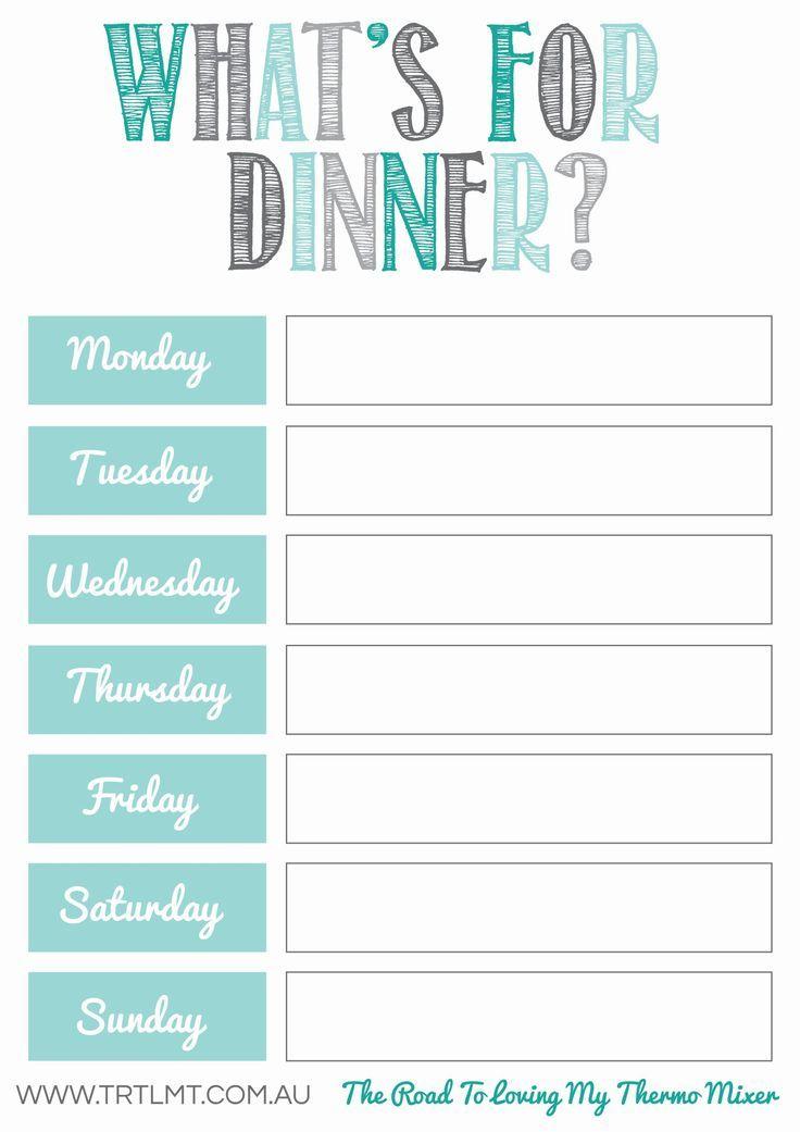 Free Meal Planning Printables | Weekly Meal Planner