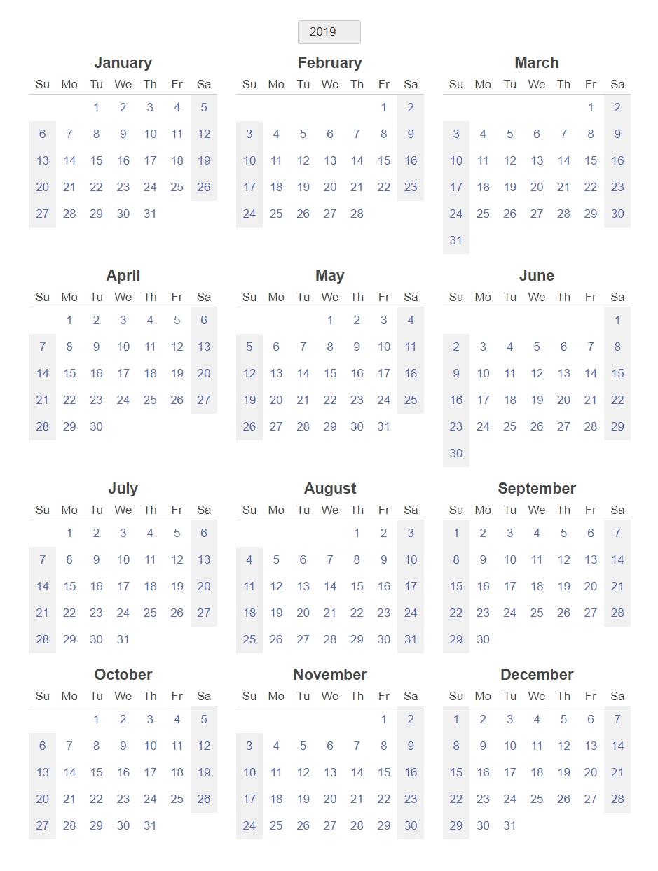 Free Printable 12 Month Blank Calendar - Calendar