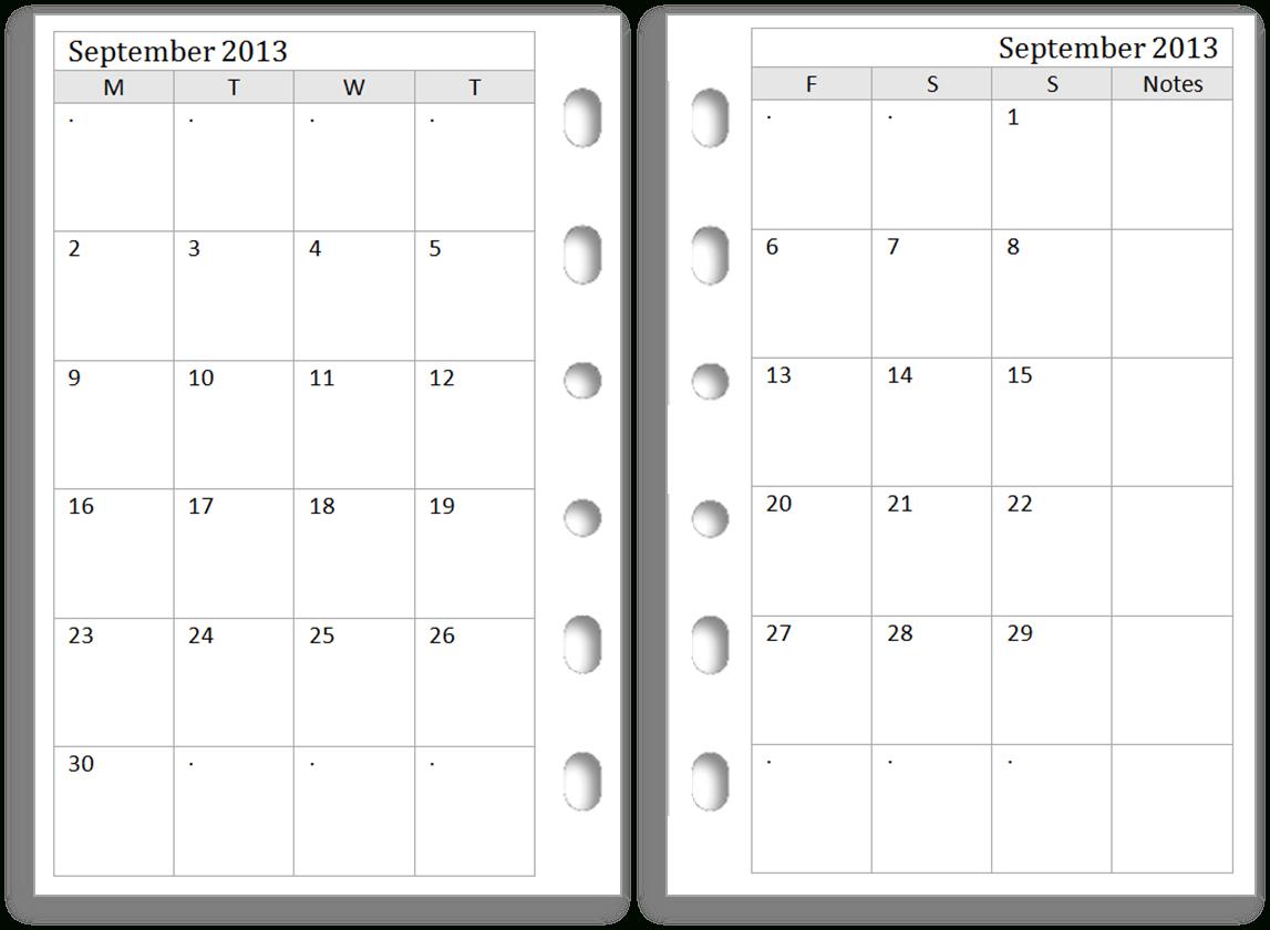 Free Printable Calendar 2013 2 Months Per Page - Www