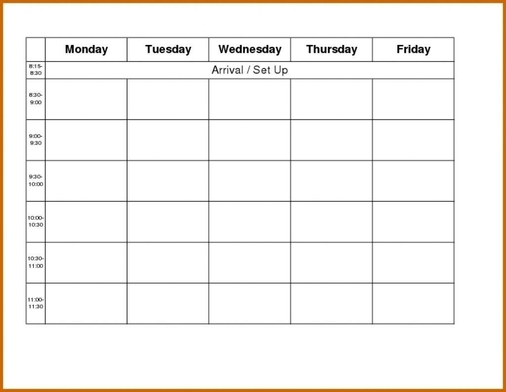 Free Printable Calendar Monday Through Friday | Month