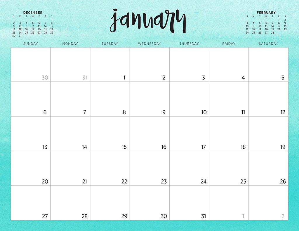 Free Printable Calendar No Download | Calendar Printables