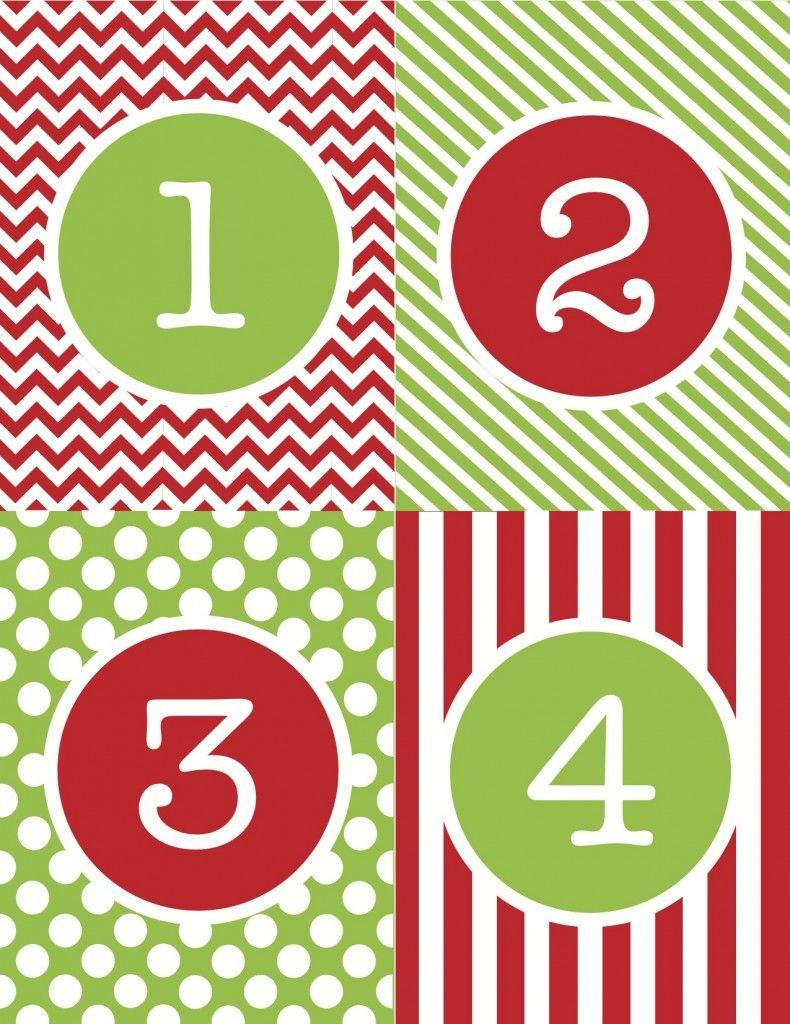 Free Printable Calendar Numbers 1-31 | Calendar Printables