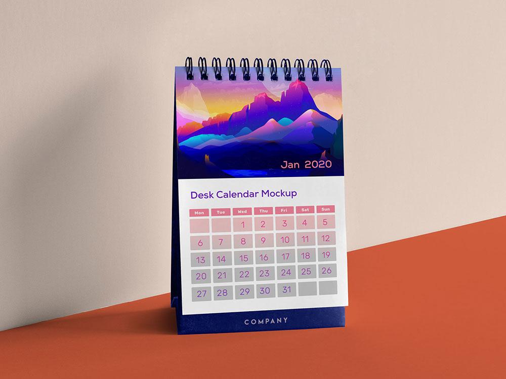Free Vertical Calendar Mockup   Mockuptree